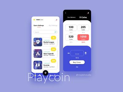 Playcoin Application uiux branding icon uiuxdesign design application ux ui