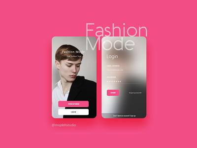 Fashion Mode Application uiux icon app uiuxdesign application ux ui