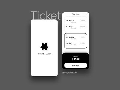 Ticket Home Application uiux vector app logo uiuxdesign ui ux application