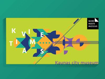 Kaunas Museum Invitation museum design cultural design culture design violin illustration invitation design invitation kaunas museum invitation