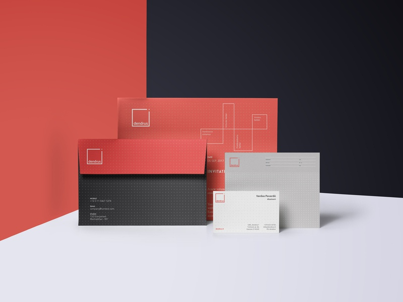 Dendrus brand identity minimal stationery minimal branding