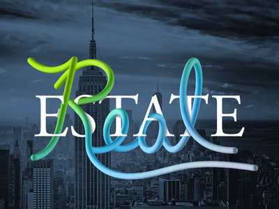 Interlaced Lettering: Real Estate typography real estate hand lettering illustrator handlettering lettering