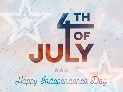 Happy Independence Day celebrate july 4th lettering typography patriotic usa united states independence day freedom fireworks america 4th of july