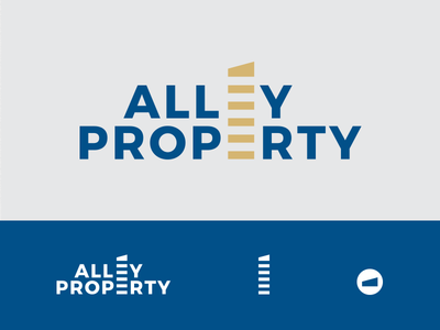 Alley Property commercial real estate wordmark typography real estate logotype logo branding