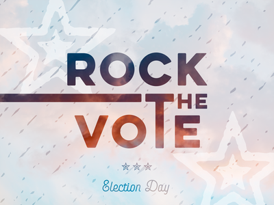 Rock the vote usa united states typography patriotic lettering election day america vote rock the vote