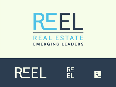 REEL Logo luxury real estate corporate identity corporate branding visual identity real estate branding wordmark logo wordmark logodesign design minimal commercial real estate logotype real estate branding logo typography