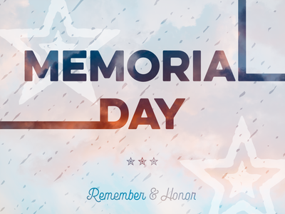 Memorial Day memorial day red white and blue united states america usa patriotic lettering typography