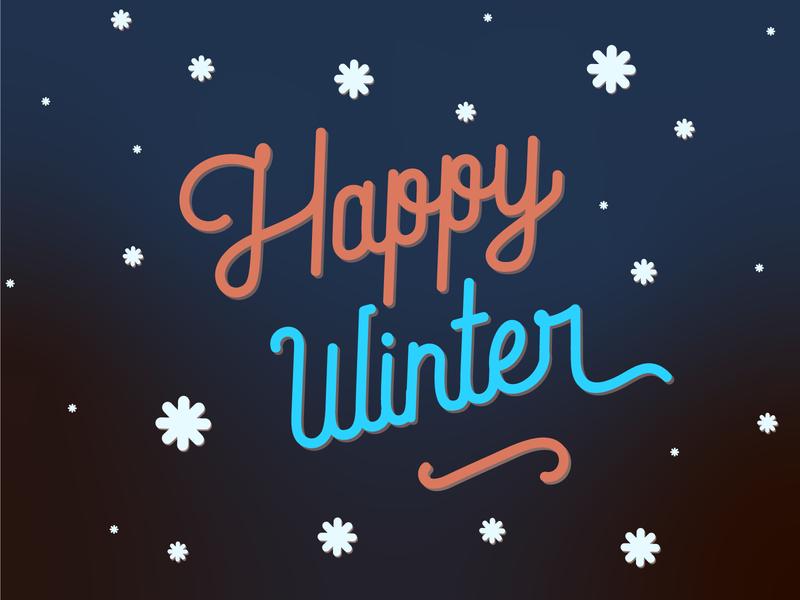 Happy Winter illustrator winter type lettering typography