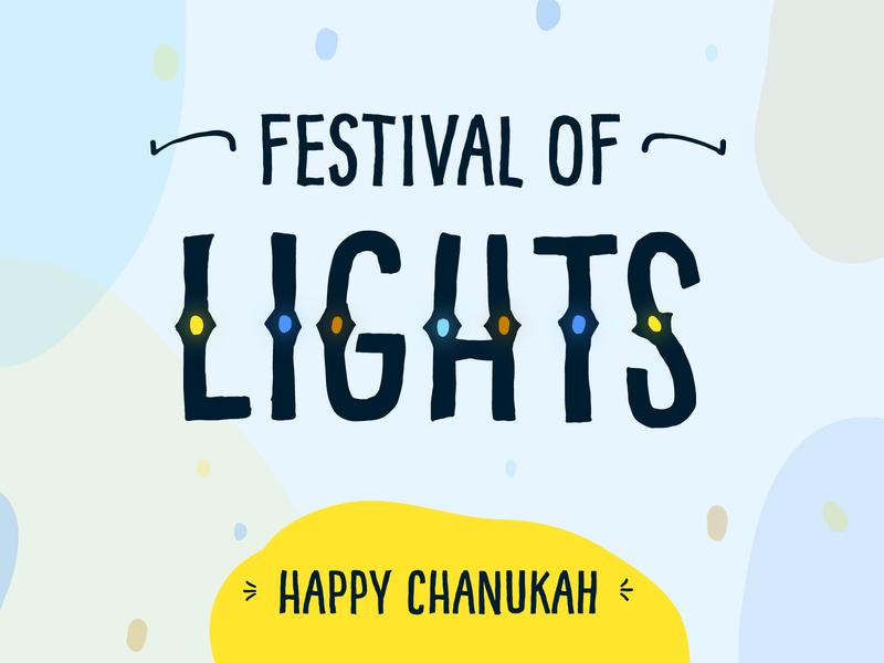 Festival of Lights design festival of lights holiday design holidays hanukkah chanukah lettering typography