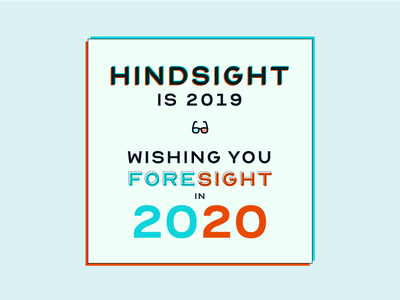 Happy New Year 2020 happy holidays celebrate eyesight 2020 happy new year new year vision design lettering typography
