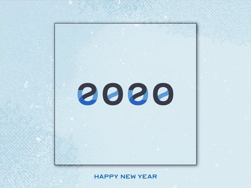 Happy New Year 2020 holiday typedesign typeart type new year typography lettering happy new year happy holidays design celebrate 2020