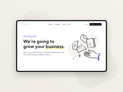Landing Page typography marketing shop app marketplace branding ui ui design ecommerce illustration