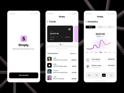 Banking mobile interface analytics chart branding concept branding design sign up icons pink black cashback payment app payment finance app finance bankingapp banking app design ux branding ui banking app
