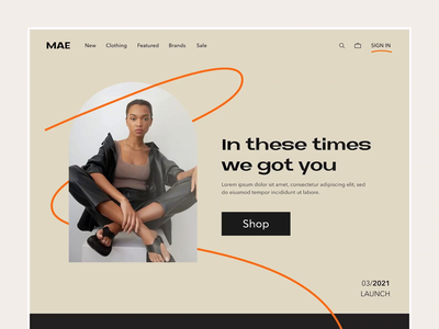 Ecommerce- Website Landing brand identity online shop shopping website design web ui landing page landing store ecommerce shop shopify shop ecommerce website branding