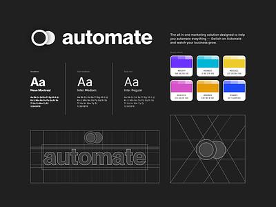 Brand / Logo Concept graphic design illustration minimal design digital design product design automation marketing purple dark theme brand colors logo design logo designer vector design ui design concept logo branding