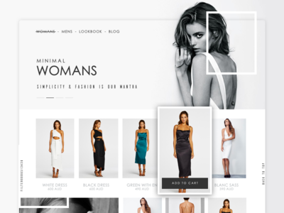Ecommerce UI Woman's category page