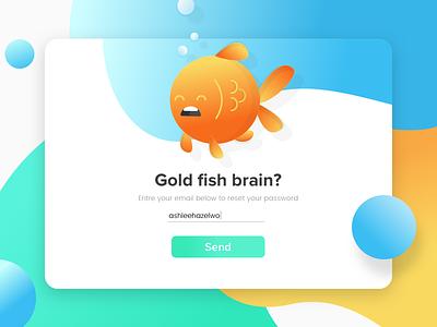 Forgot your password? fish playful bright illustration cta ui reset password gold fish