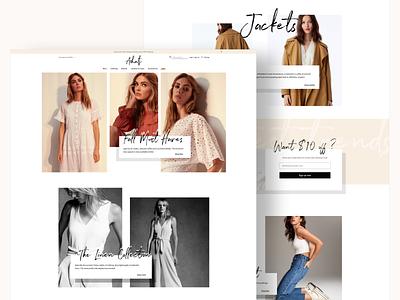Ecommerce landing ui minimalism womans fashion photography neutral beige clean minimal ux logo branding typography ui design ecommerce