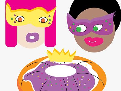 Happy Mardi Gras! vector illustration