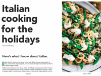 Editorial - Italian Cooking