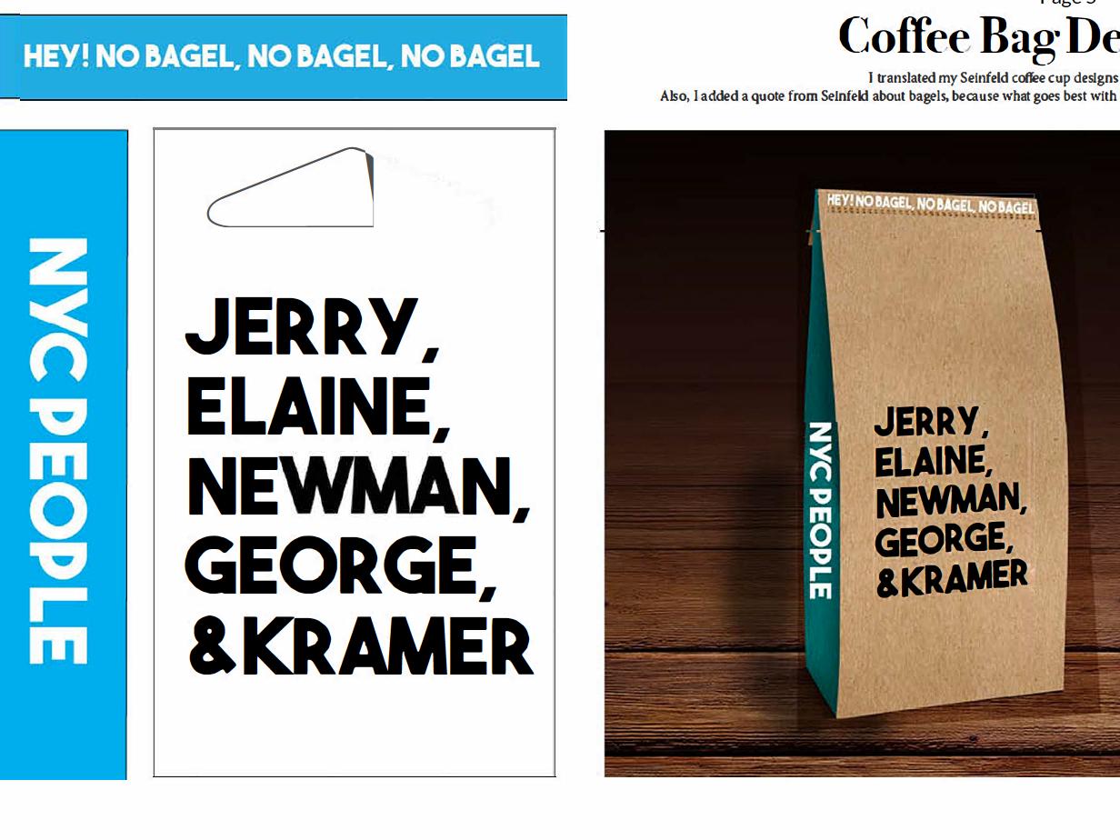 Coffee Bag Design concept seinfeld mock up branding design branding and identity typography branding