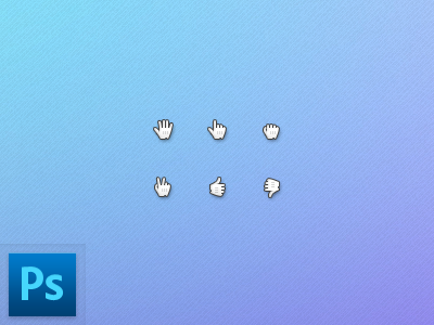 Hand Cursors (PSD) cursor psd freebies hand download