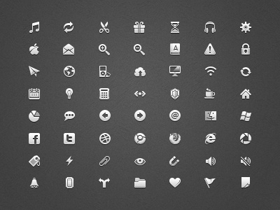 Icons small set