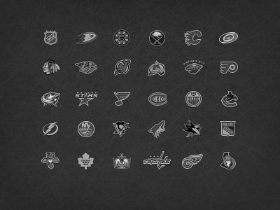 NHL Teams Logos nhl hockey monochrome small icons team logo ice hockey logo