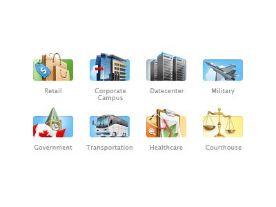Icons - Market Sectors small icons market sectors