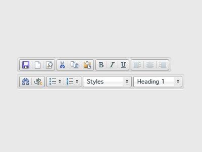 WYSIWYG Toolbar icons wysiwyg small icons 16x16