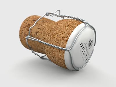 Shampagne Cork Illustration shampagne cork illustration studio shot cg modo render