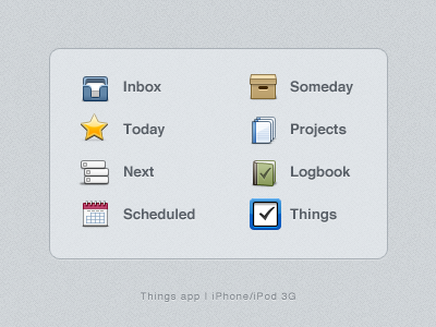 Things App Icons (psd) things iphone app icons psd freebies
