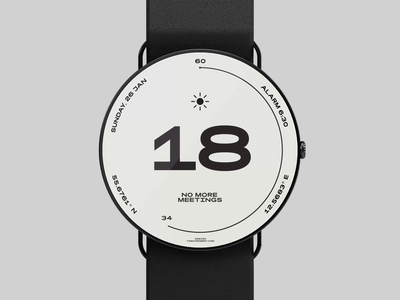 Watch Face Concept, Day Night uimotion micro interaction microinteraction interaction motion design motion complications watch face watch animation ui black typography