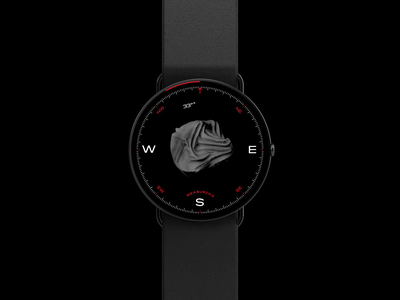 Watch Face, Anemometer ux ui design watchface watch typography 3d black wearables animation ui
