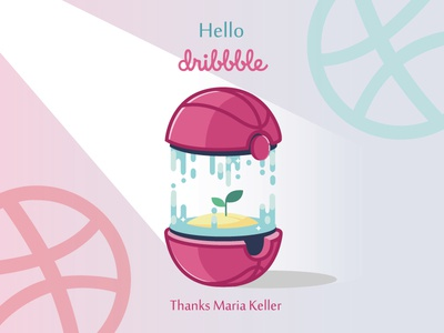 Debut Shot Dribbble illustration hellodribbble sprout growing firstshot debut