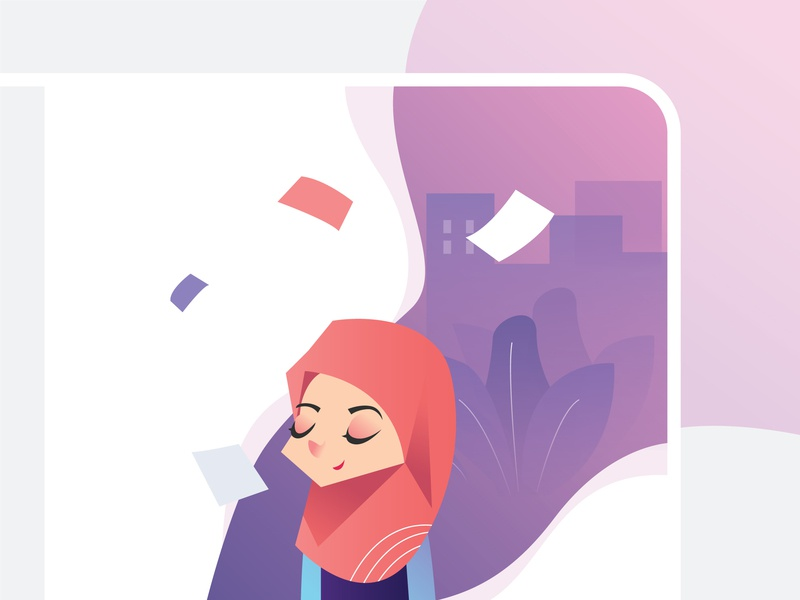 Relax time time relax profile hijab leaf ui