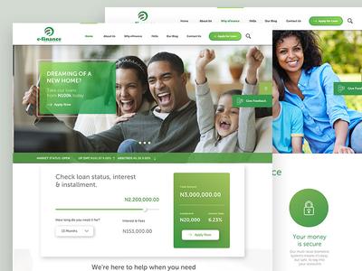 E-Finance Website Design