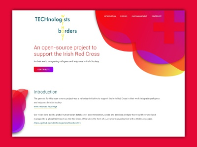 Landing Page for Services to Red Cross smooth ux design illustration ui uidesign modern design colorful design adobe xd simple design landing page