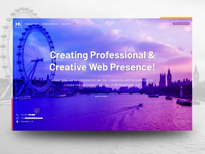 Web Agency - Landing Page variation colorful design simple design modern design typography web agency we design uidesign ux design