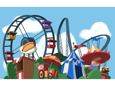 Funfair (Background Design for a browse game)