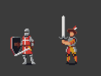 Pixel RPG Characters: Knight & Mercenary