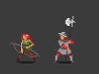 Pixel RPG Characters: Archer & Guard