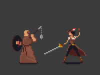 Pixel RPG Characters: Monk & Rogue