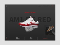 AirMax1 OG Red Landing page