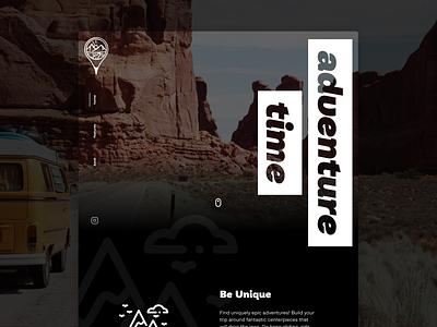 DailyUI 003 - Landing Page: Adventure Time Design Challenge Me dailyui 003 dailyui webflow landingpage designchallenge user experience branding design adventurechallenge