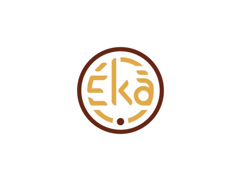 Eká Wordmark + Icon Logo wordmark word vector start up logo mockup logotype startup logodesign logo icon graphic brand identity brand branding