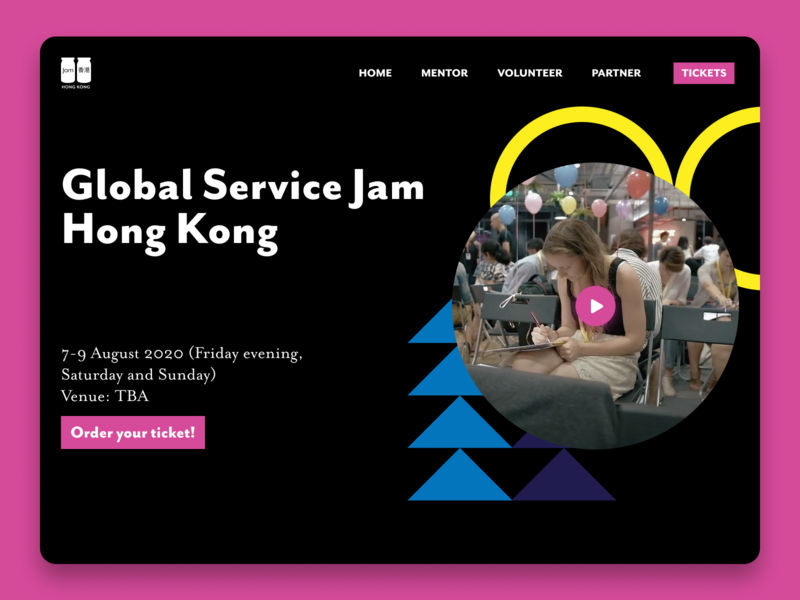 Global Service Design Jam Hong Kong Landing Page | Web Design figma webflow design jam webdesign user interface web design typography ux vector illustration ui user experience branding