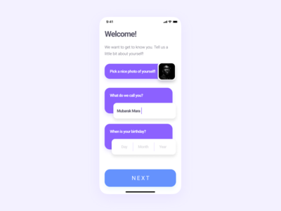 DailyUI 001 - Sign Up onboarding signup dailyui mobile ux user interface ui user experience user interface app ui design mobileui