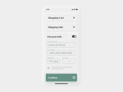 DailyUI 002 - Check Out checkout page mobile dailyui neumorphism skeumorphic user interface user experience ux design ui app mobileui