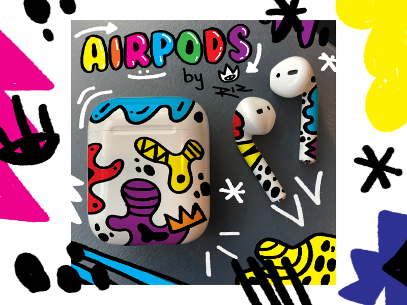 AirPods Dribble - Should I? photoshop color art illustration product design apple design airpods apple